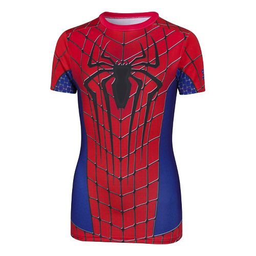 Kids Under Armour Alter Ego Amazing Spider Man Fitted Shirt Short Sleeve Technical Tops - ...
