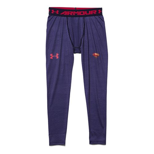 Kids Under Armour Alter Ego Superman Fitted Legging Full Length Tights - Midnight Navy YL ...