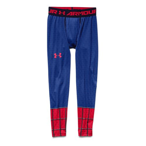 Kids Under Armour Alter Ego Spider Man Fitted Legging Full Length Tights - Midnight Navy ...