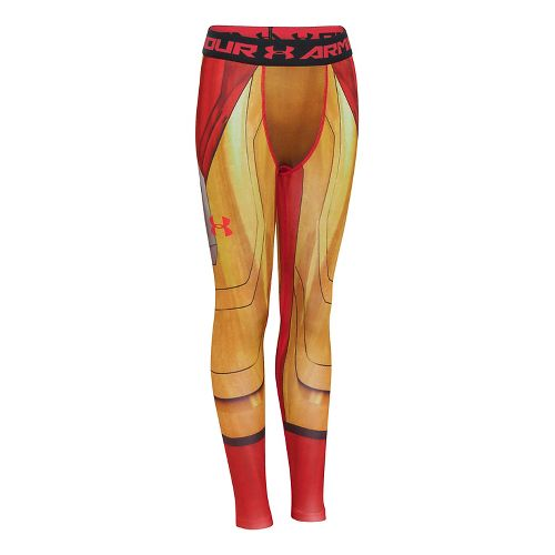 Kids Under Armour Alter Ego Iron Man Fitted Legging Full Length Tights - Vegas Gold ...