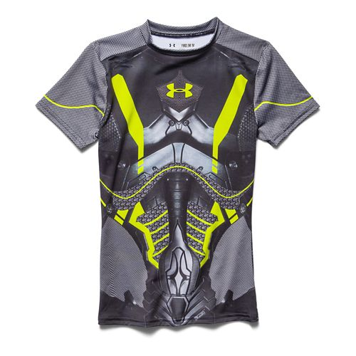 Kids Under Armour Alter Ego Future Warrior Fitted Shirt Short Sleeve Technical Tops - Black ...