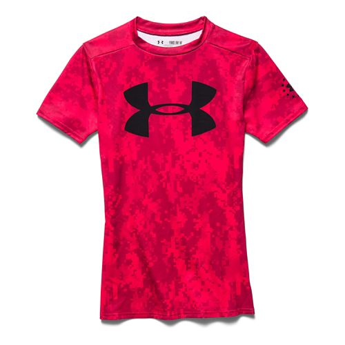Kids Under Armour Alter Ego PTH Camo Fitted Shirt Short Sleeve Technical Tops - Risk ...