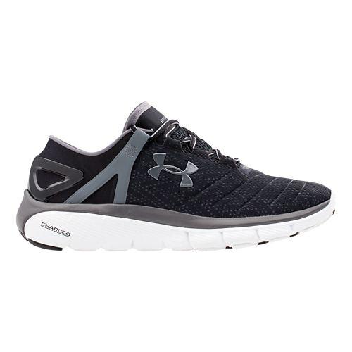Mens Under Armour Speedform Fortis Running Shoe - Black/Graphite 10.5