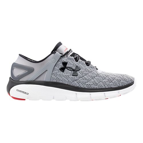 Mens Under Armour Speedform Fortis Running Shoe - Steel/Black 11