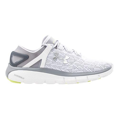 Mens Under Armour Speedform Fortis Running Shoe - White/Silver 7.5