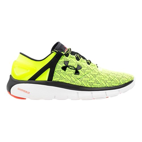 Mens Under Armour Speedform Fortis Running Shoe - Yellow/Black 7.5