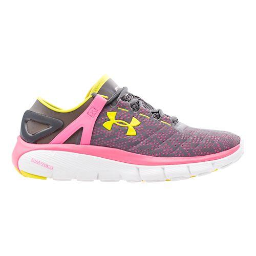 Womens Under Armour Speedform Fortis Running Shoe - Graphite/Pink Punk 5.5