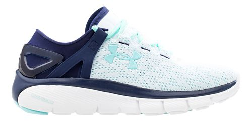 Womens Under Armour Speedform Fortis Running Shoe - White/Blue Knight 10