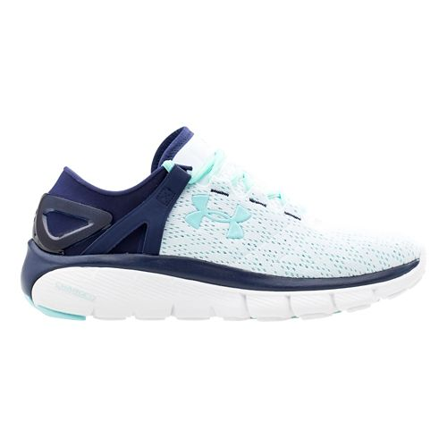 Womens Under Armour Speedform Fortis Running Shoe - White/Blue Knight 7.5