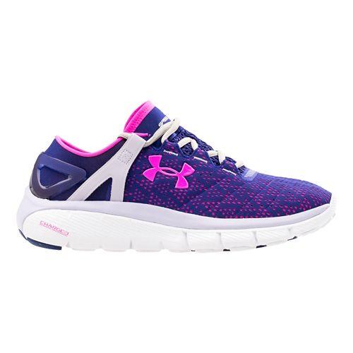 Womens Under Armour Speedform Fortis Running Shoe - Purple/Pink 8