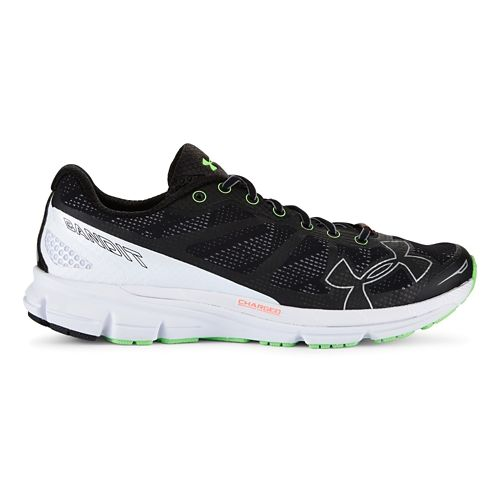 Mens Under Armour Charged Bandit Running Shoe - Black/Silver 13