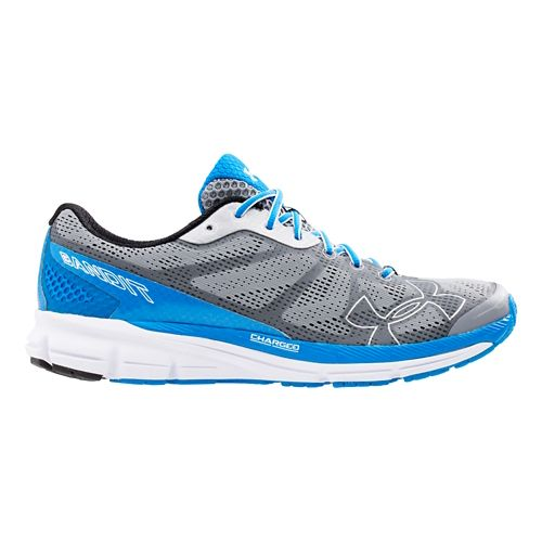 Mens Under Armour Charged Bandit Running Shoe - Grey/Blue 9.5