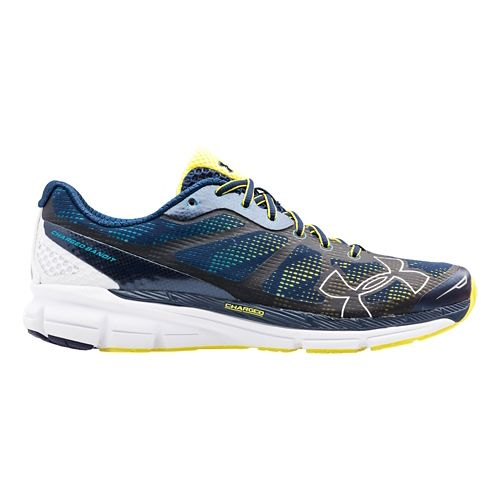 Mens Under Armour Charged Bandit Running Shoe - Academy/White 14