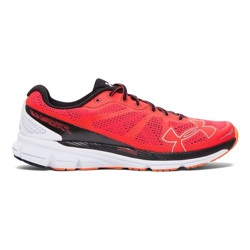 Mens Under Armour Charged Bandit Running Shoe - Rocket Red/Black 10.5