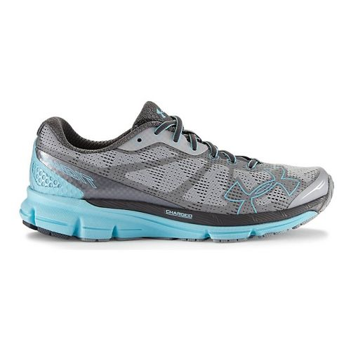 Womens Under Armour Charged Bandit Running Shoe - Aluminum/Graphite 7