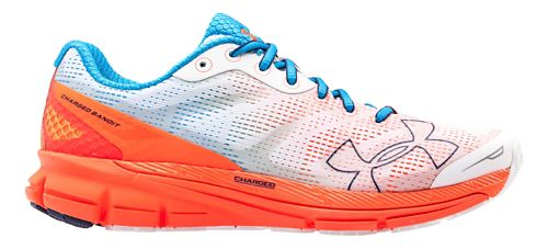 Womens Under Armour Charged Bandit Running Shoe - White/Jazz Blue 8