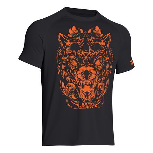 Mens Under Armour 100% Beast Wolf T Short Sleeve Technical Tops - Black S