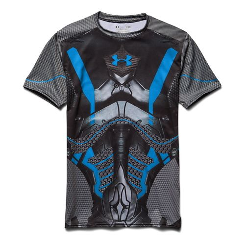 Mens Under Armour Alter Ego Future Compression Shirt Short Sleeve Technical Tops - Black/Island ...