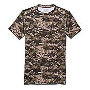 Mens Under Armour Woodland Digi Camo Compression Shirt Short Sleeve Technical Tops