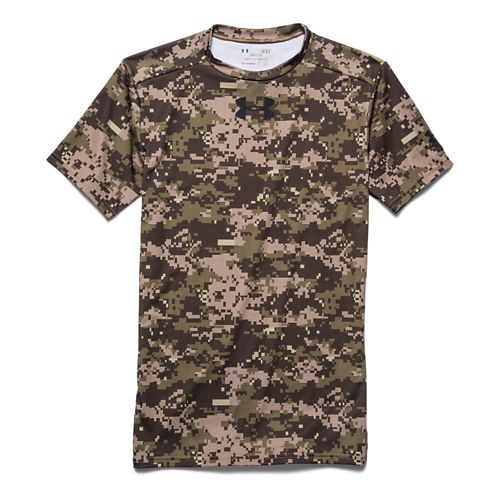Mens Under Armour Woodland Digi Camo Compression Shirt Short Sleeve Technical Tops - Artillery ...