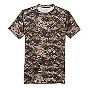 Mens Under Armour Woodland Digi Camo Compression Shirt Short Sleeve Technical Tops