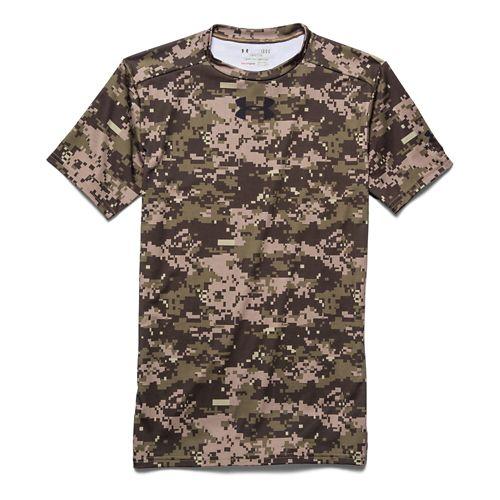 Mens Under Armour Woodland Digi Camo Compression Shirt Short Sleeve Technical Tops - Artillery ...