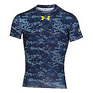 Mens Under Armour Shipboard Digi Camo Compression Shirt Short Sleeve Technical Tops