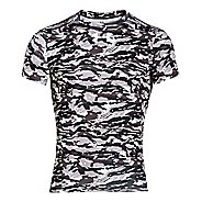 Mens Under Armour Woodland Stealth Camo Compression Shirt Short Sleeve Technical Tops