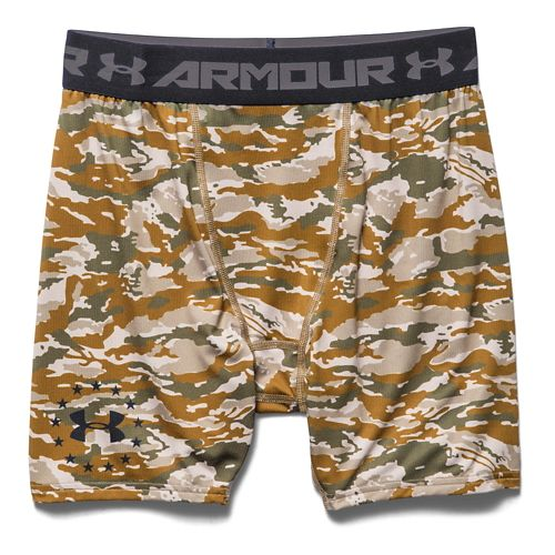 Mens Under Armour Woodland Camo Compression Unlined Shorts - Coyote Brown XXL