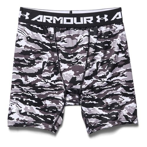Mens Under Armour Woodland Stealth Camo Compression Unlined Shorts - Black L