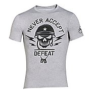 Mens Under Armour Never Accept Defeat Compression Shirt Short Sleeve Technical Tops