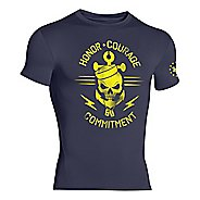Mens Under Armour Honor Courage Commitment Compression Shirt Short Sleeve Technical Tops