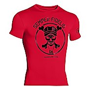 Mens Under Armour Semper Fidelis Compression Shirt Short Sleeve Technical Tops