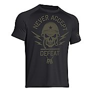Mens Under Armour Never Accept Defeat T Short Sleeve Technical Tops