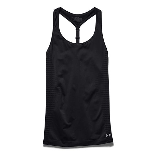 Womens Under Armour Run Seamless Tank Technical Tops - Faded Ink S