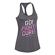 Womens Under Armour Power In Pink Go Fight Cure Tank Technical Tops