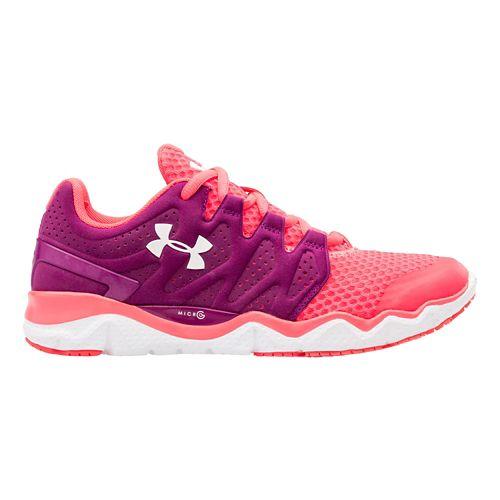 Womens Under Armour Micro G Optimum Running Shoe - Aubergine/Pink Shock 7