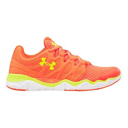 Womens Under Armour Micro G Optimum Running Shoe - After Burn/White 9.5