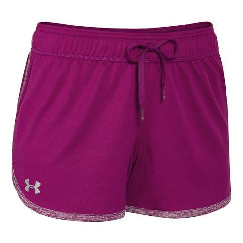 Womens Under Armour Tech Unlined Shorts - Aubergine XL