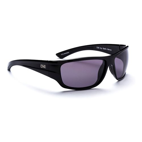 ONE Swell Polarized Sport Sunglasses - Matte Shiny Black