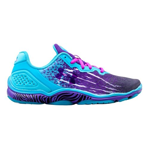 Womens Under Armour Micro G Sting TR Cross Training Shoe - Lead/Island Blues 6