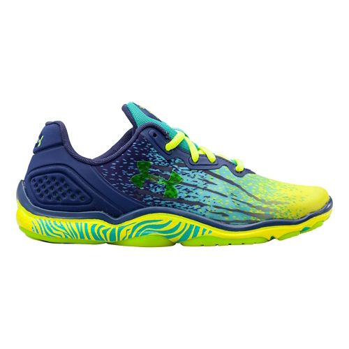 Womens Under Armour Micro G Sting TR Cross Training Shoe - Yellow Ray/Faded Ink 7 ...
