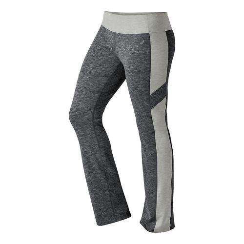 Womens ASICS Thermopolis Full Length Pants - Dark Grey Heather M