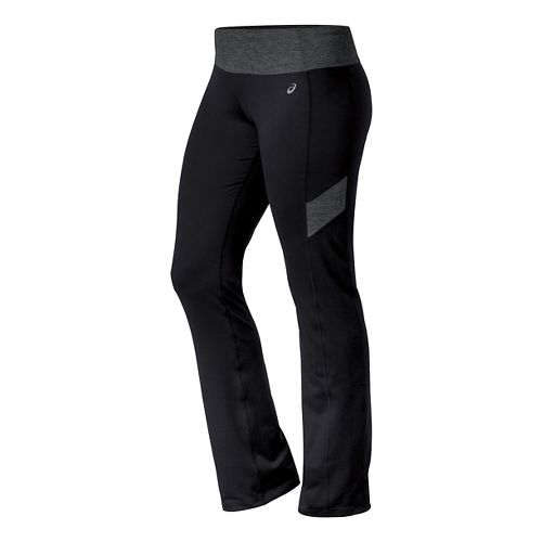 Womens ASICS Thermopolis Full Length Pants - Black/Heather Grey S-T