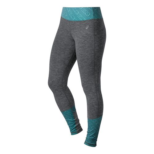 Womens ASICS Thermopolis Tights - Dark Grey Heather S-T