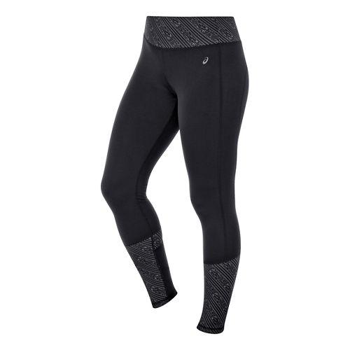 Womens ASICS Thermopolis Tights - Black/Black Stripe XL