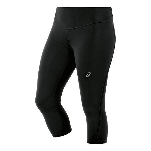 Womens ASICS Lite-Show Knee Tights - Black XL