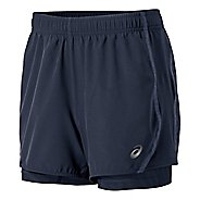 Womens ASICS Lite-Show 3-n-1 Woven 2-in-1 Shorts