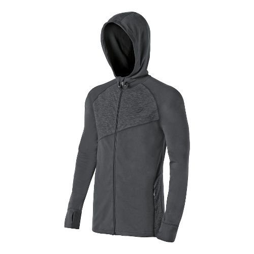 Mens ASICS Thermopolis Hoody Warm-Up Hooded Jackets - Dark Grey S