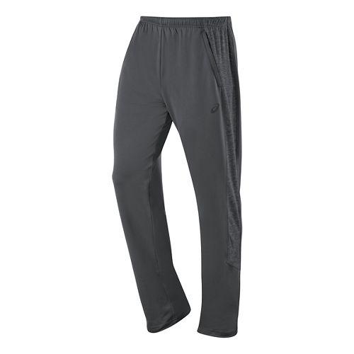 Mens ASICS Thermopolis Full Length Pants - Dark Grey/Dark Grey XL
